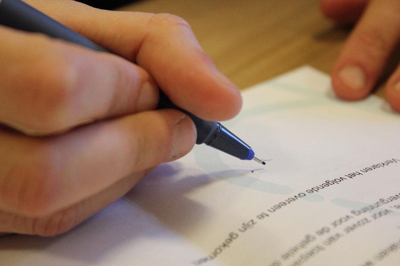 contract handtekening signature