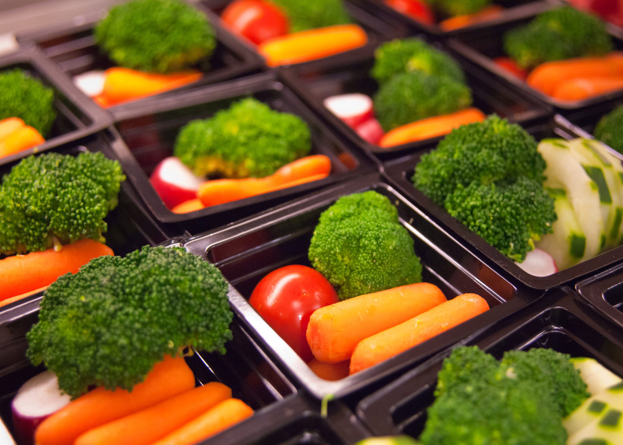 School Breakfast and School Lunch at Washington-Lee High School Arlington, Virginia Fresh vegetable cups
