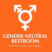 bordje genderneutraal toilet euc