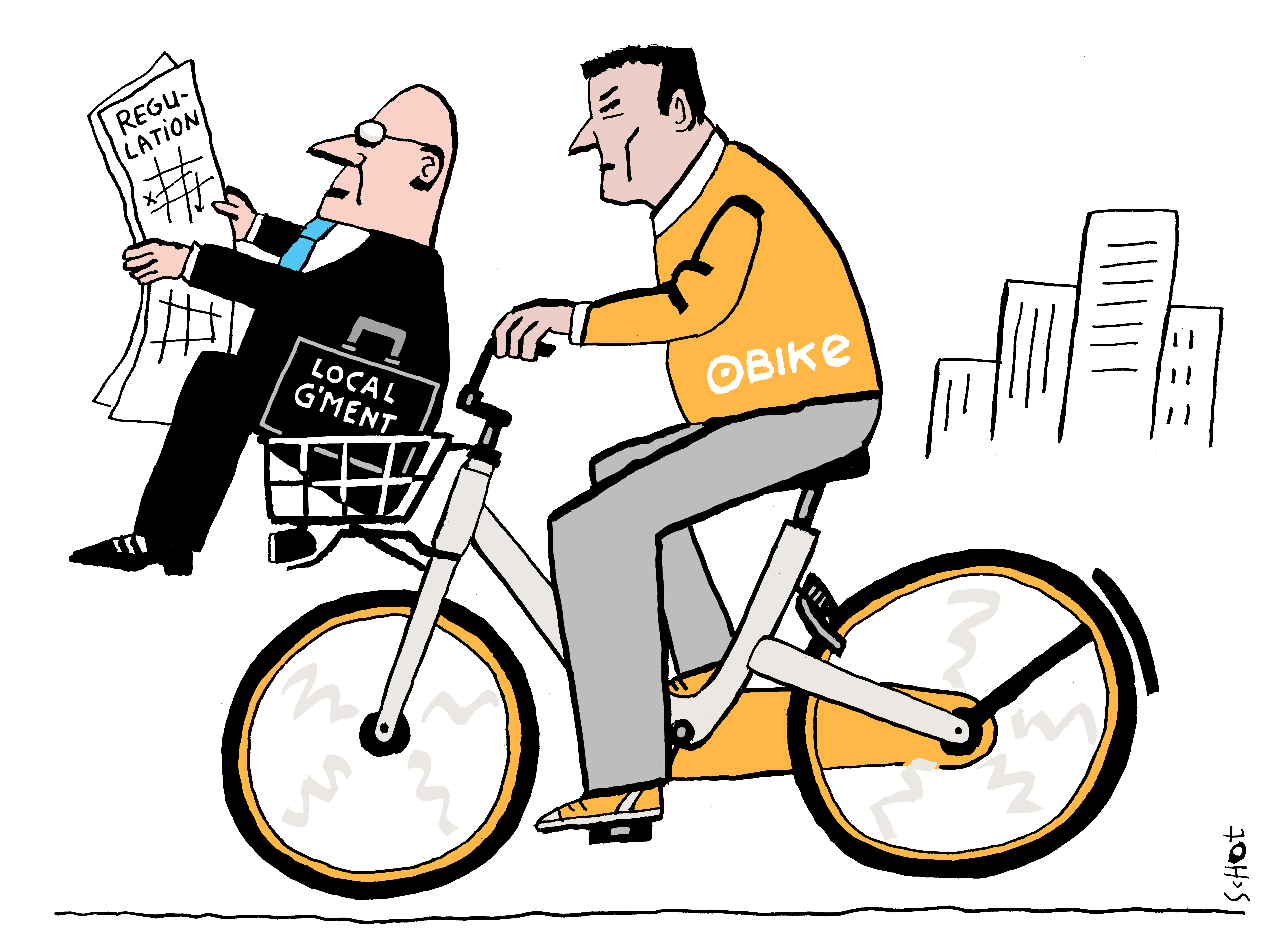 em-engels fiets obike gemeente