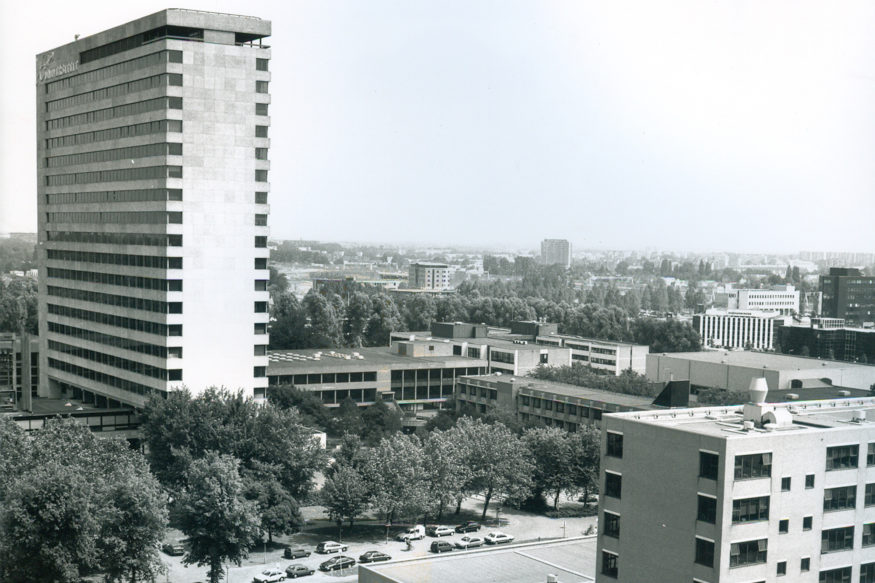 Campus Woudestein in 2001 (as seen from the Mandeville Building)