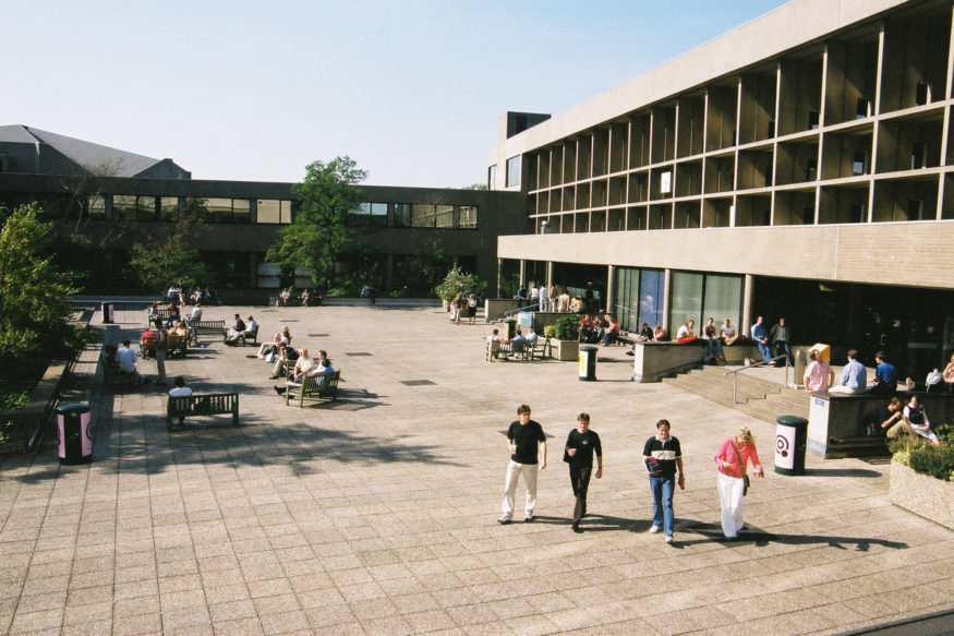 K.P. van der Mandelesquare at campus Woudestein in 2004