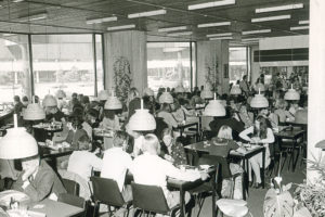 Etude dining hall at the Tinbergen Building in the 70s