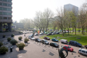 Campus Woudestein, as seen from the balcony at the A-building in 2009