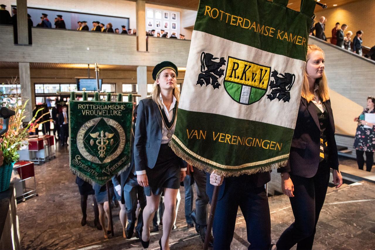 RSCRVSV, RKvV en studentenverenigingen tijdens de Dies Natalis