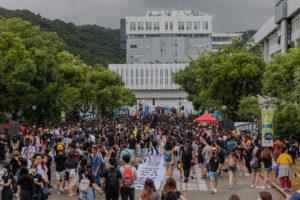 Boycot op campus in Hongkong – Wouter