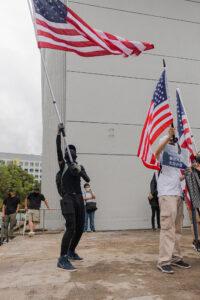 Amerikaanse vlaggen in Hongkong – Wouter
