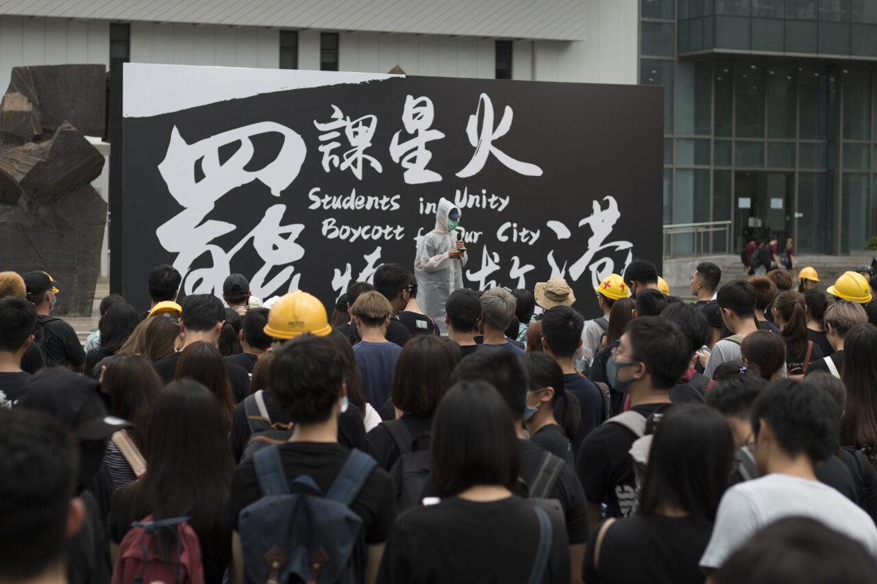 Protest Hongkong op campus – Wouter