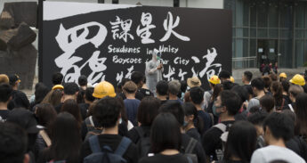 Protest Hongkong op campus – Wouter
