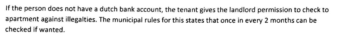 1. dutch bank account