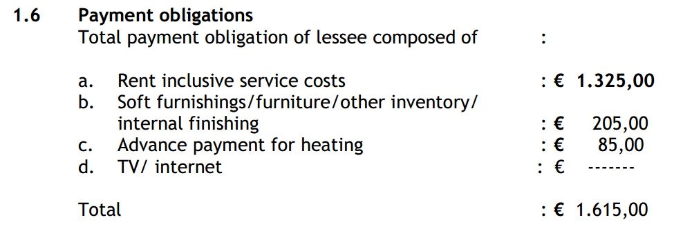 4. rental and service costs