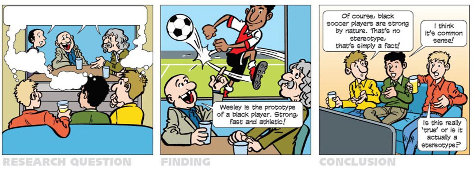 cartoon YEA – football stereotype