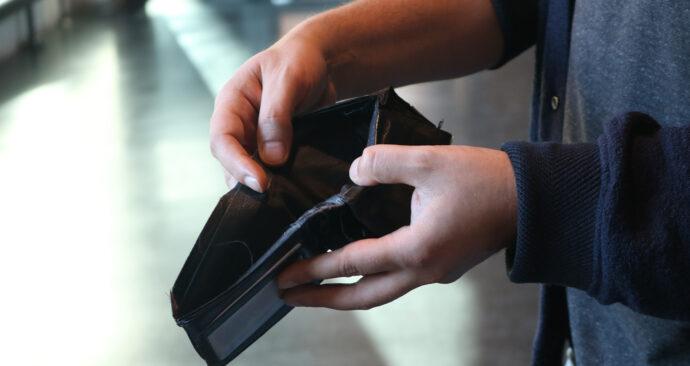 lege portemonnee geld koopkracht financieel