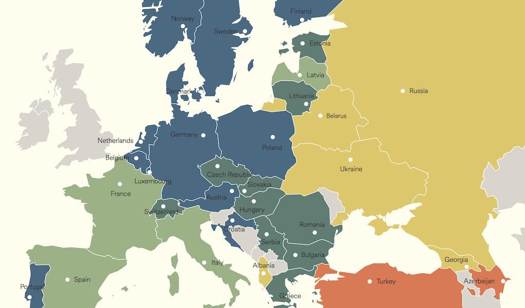 EF kaart europa