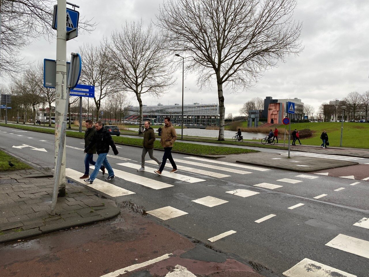The zebra crossing where the accident took place.