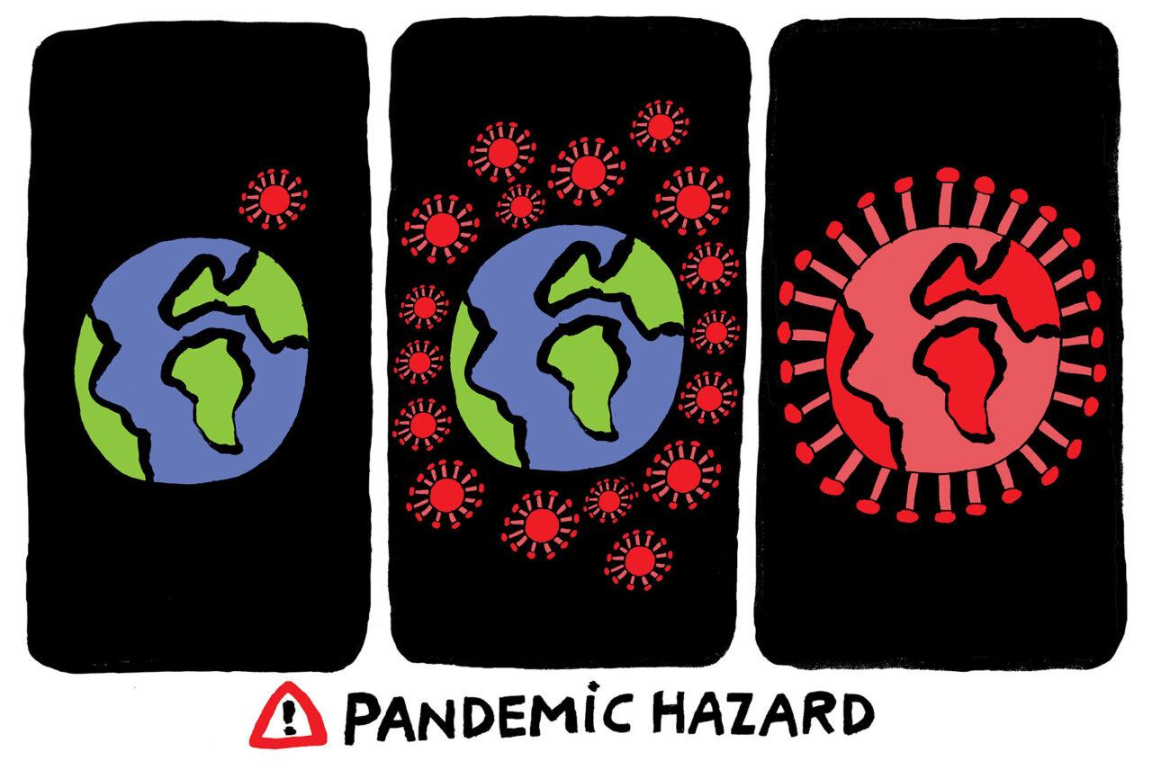 Kwestie EN – coronavirus pandemiegevaar – bas van der schot