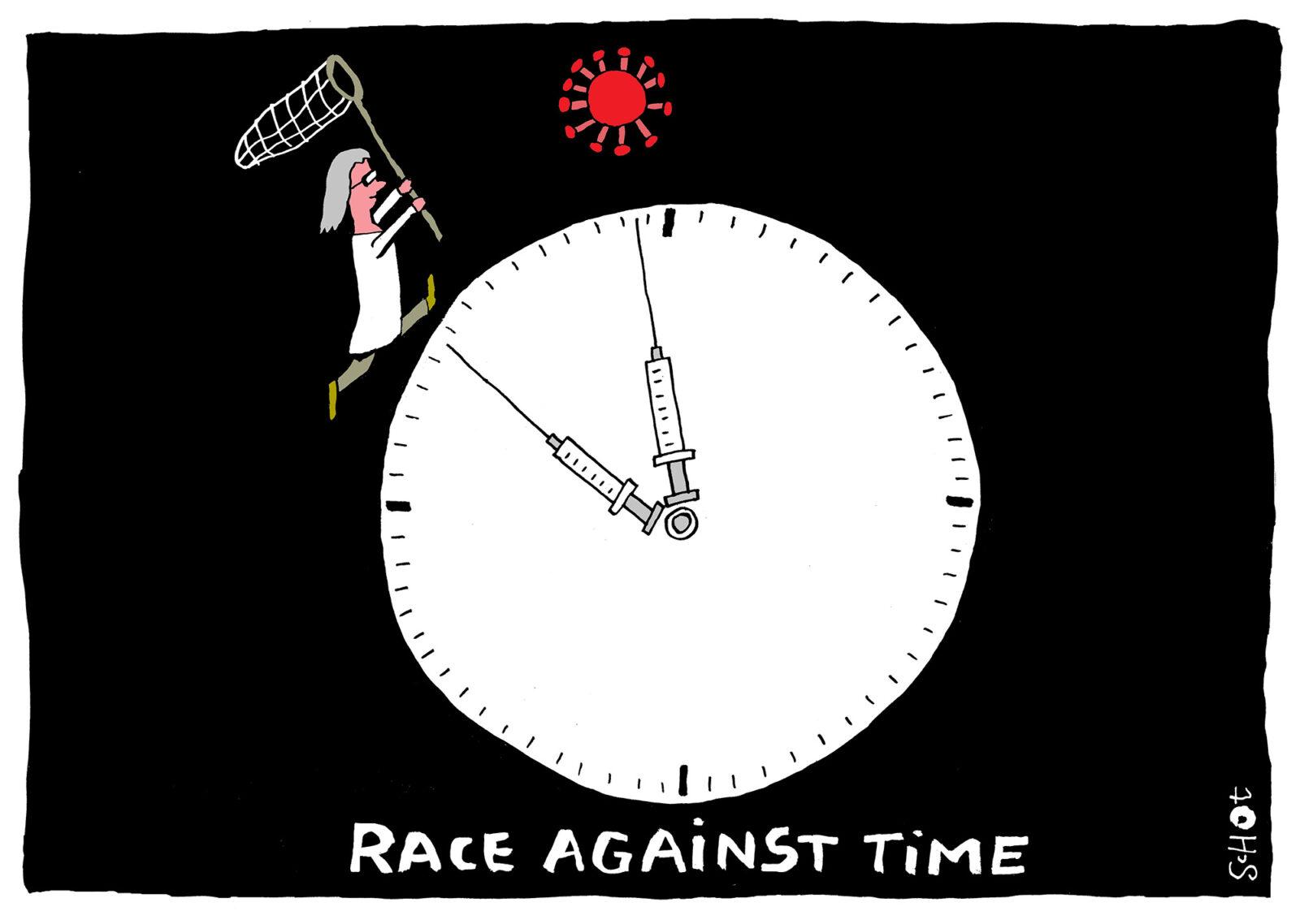 Kwestie EN – coronavirus race tegen de klok – bas van der schot