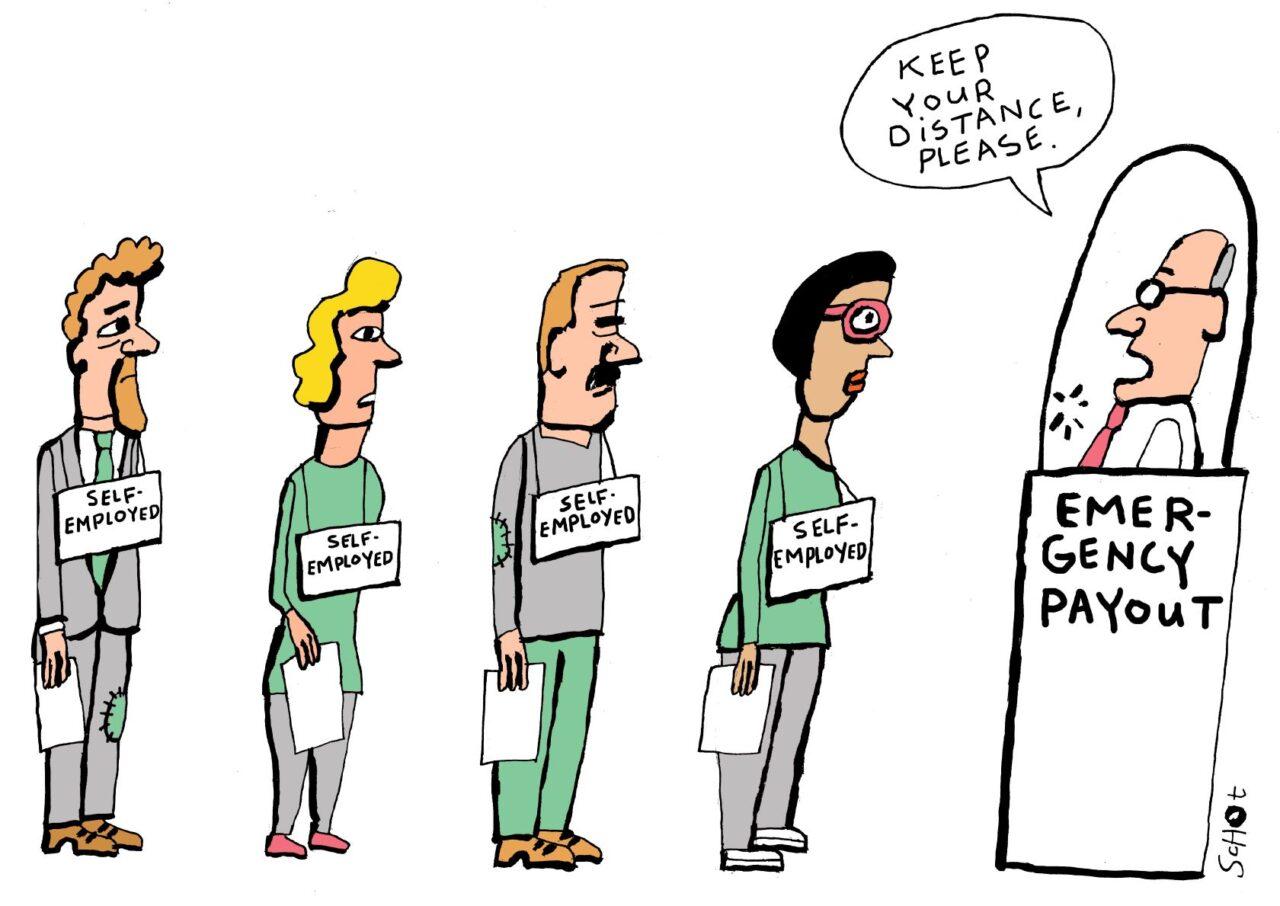 corona labour market self-employed emergency payout – bas van der schot