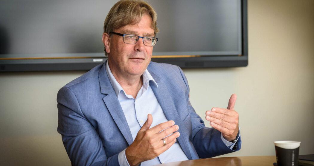 Ed Brinksma, voorzitter van het CvB
