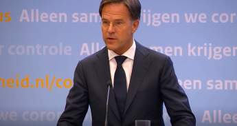Mark Rutte tijdens persconferentie coronamaatregelen 28 september