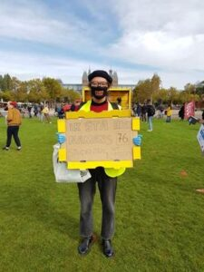 Aram Boom studentenprotest Amsterdam HOP