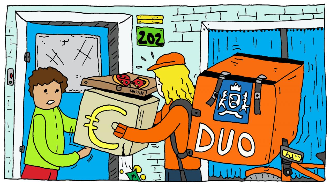 EM illustratie 15 nov 2020 Wiersema financien lening budget-03 geld duo studenten money students