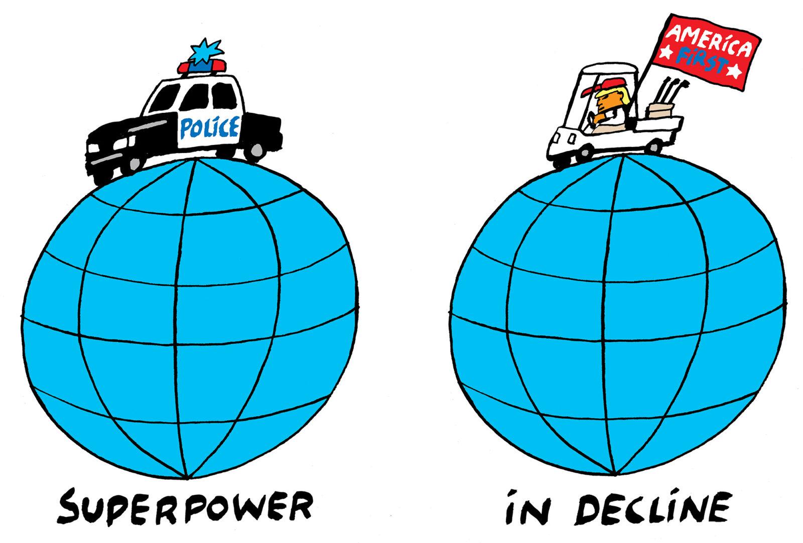 Kwestie politieman USA superpower in decline 2000 – Bas van der Schot