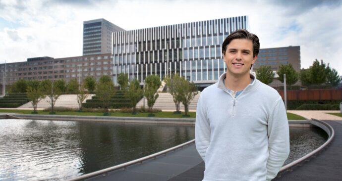 University council member Bram Heesen