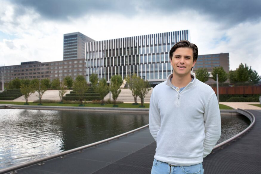 University council member Bram Hessen