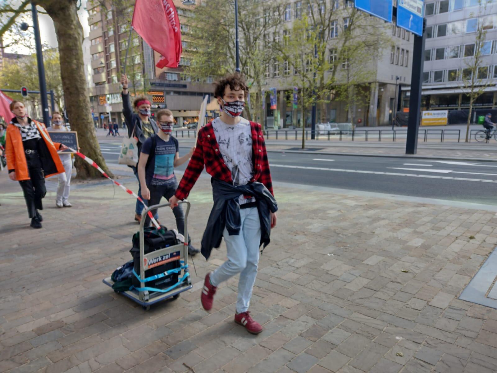 protest leenstelsel rotterdam 19-05-2021