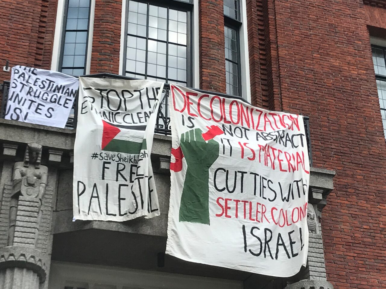 spandoeken palestina Erasmus University College EUC foto twitter