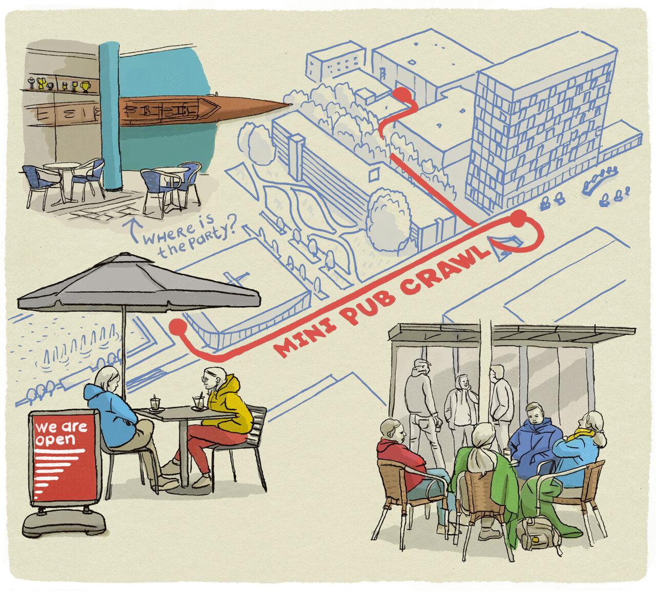 ikrotterdam – mini pub crawl terrassen open campus