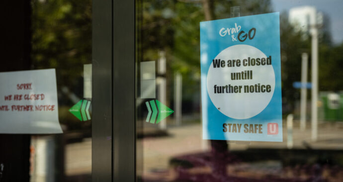 Campus supermarket Spar will remain closed for the time being.